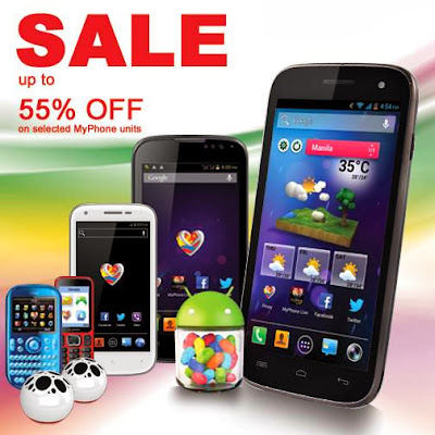 MyPhone WAREHOUSE SALE! 55% off on selected MyPhone units!