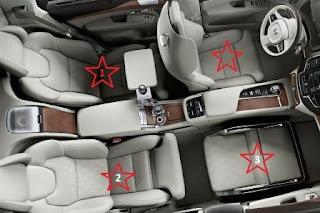 vị trí chỗ ngồi trên ô tô an toàn nhất