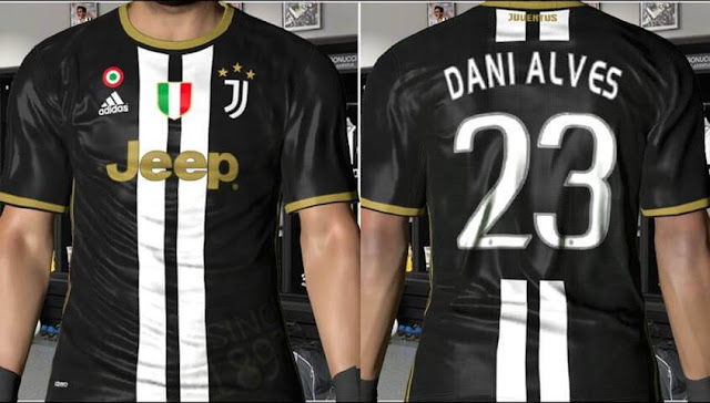 new arrival 24729 09430 Juventus Third Kit With New Logo - PES 2017 - PATCH PES ...
