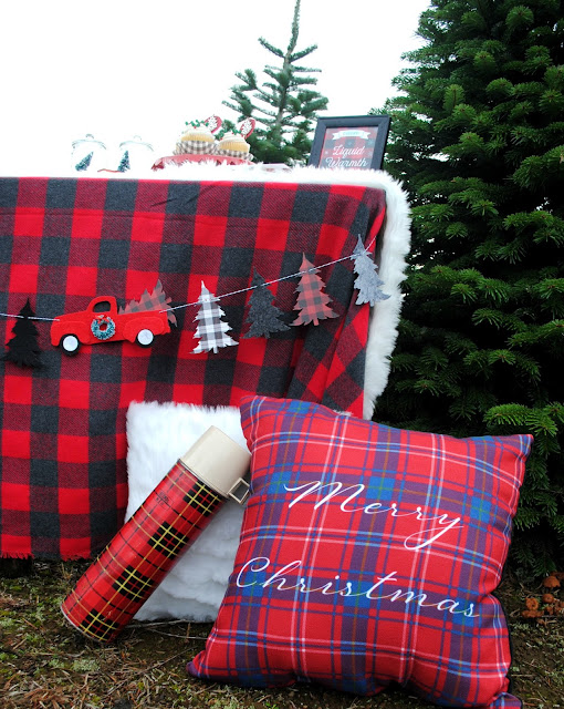 Plaid spotted everywhere this holiday season. See more inspiration at FizzyParty.com