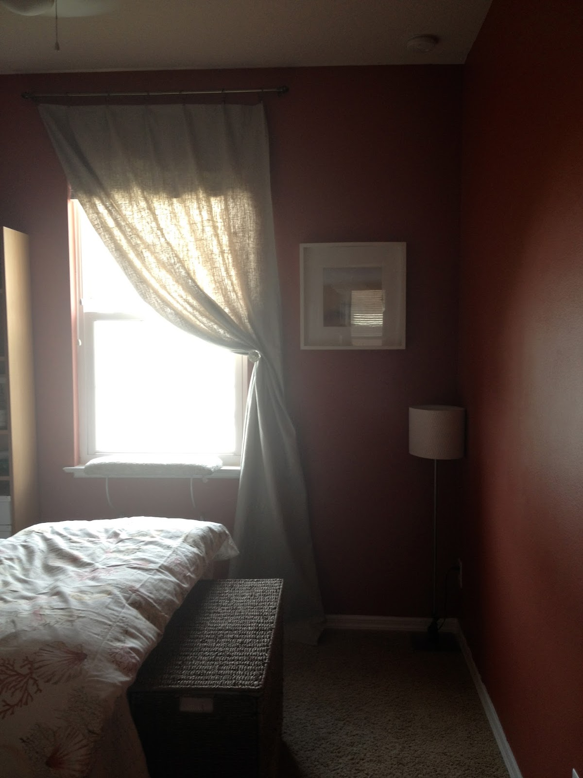 Red Beach Themed Guest Bedroom Overthrow Martha