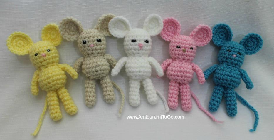 Crochet Tiny Mouse Amigurumi Free Patterns | 476x933