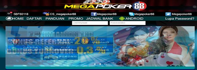 Megapoker88 Situs Judi Poker & Domino Online Uang Asli Indonesia Terpercaya