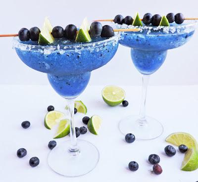 Fresh Frozen Blueberry Lime Margarita