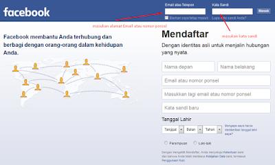 Cara masuk Akun Facebook Baru