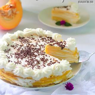 Resep Cara Membuat Pumpkin Miles Crepes Cake