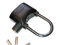 Kinbar, Gembok Alarm Anti Maling Untuk Motor, Pintu dan Pagar