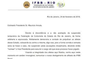 Presidente da IFBB-RIO comunica desligamento de afiliação da IFBB Brasil