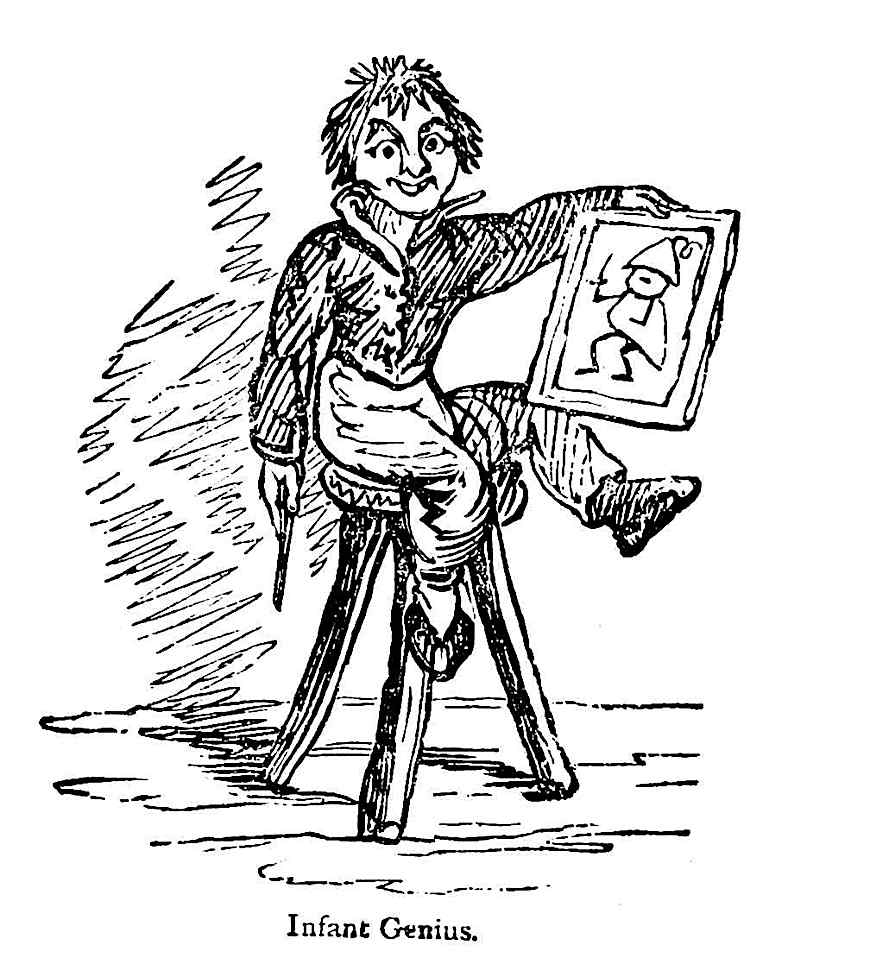 an artist infant genius cartoon 1881