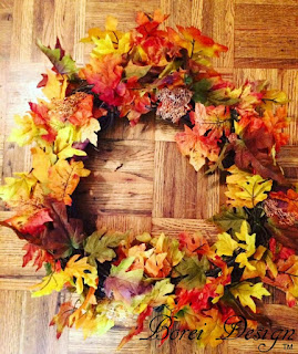 how-to-make-fall-wreath-garland-dollar-store