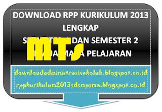 RPP Alquran Hadits Mts Kelas 7 Kurikulum 2013 Semester 1 dan 2