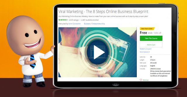 [100% Off] Viral Marketing - The 8 Steps Online Business Blueprint| Worth 145$