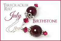 July Birthstone: Firecracker Red -Crystal Allure Beaded Jewelry Creations