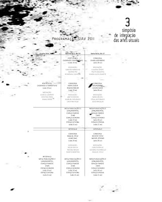 Programação do Simpósio de Artes visuais da UFSC