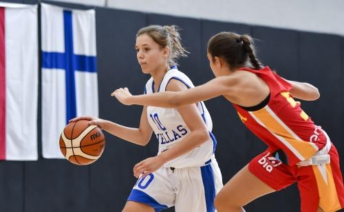Εθνική Παγκορασίδων: Ελλάδα-Ισπανία (κόκκινη) 23-68 (Τουρνουά BAM L´Alqueria στη Βαλένθια)