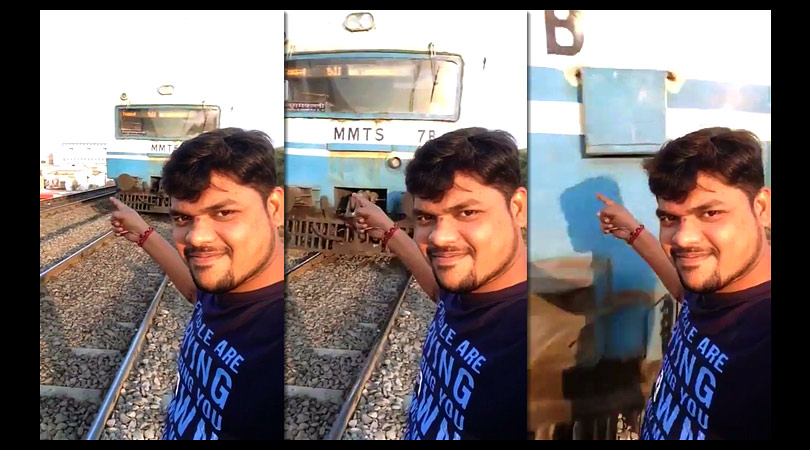 Train accident for selfie - India