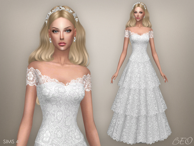 My Sims 4 Blog: Vintage Wedding Dress By BEO Creations