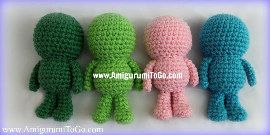Amigurumi Basic Patterns : Wee bits basic body pattern amigurumi to go