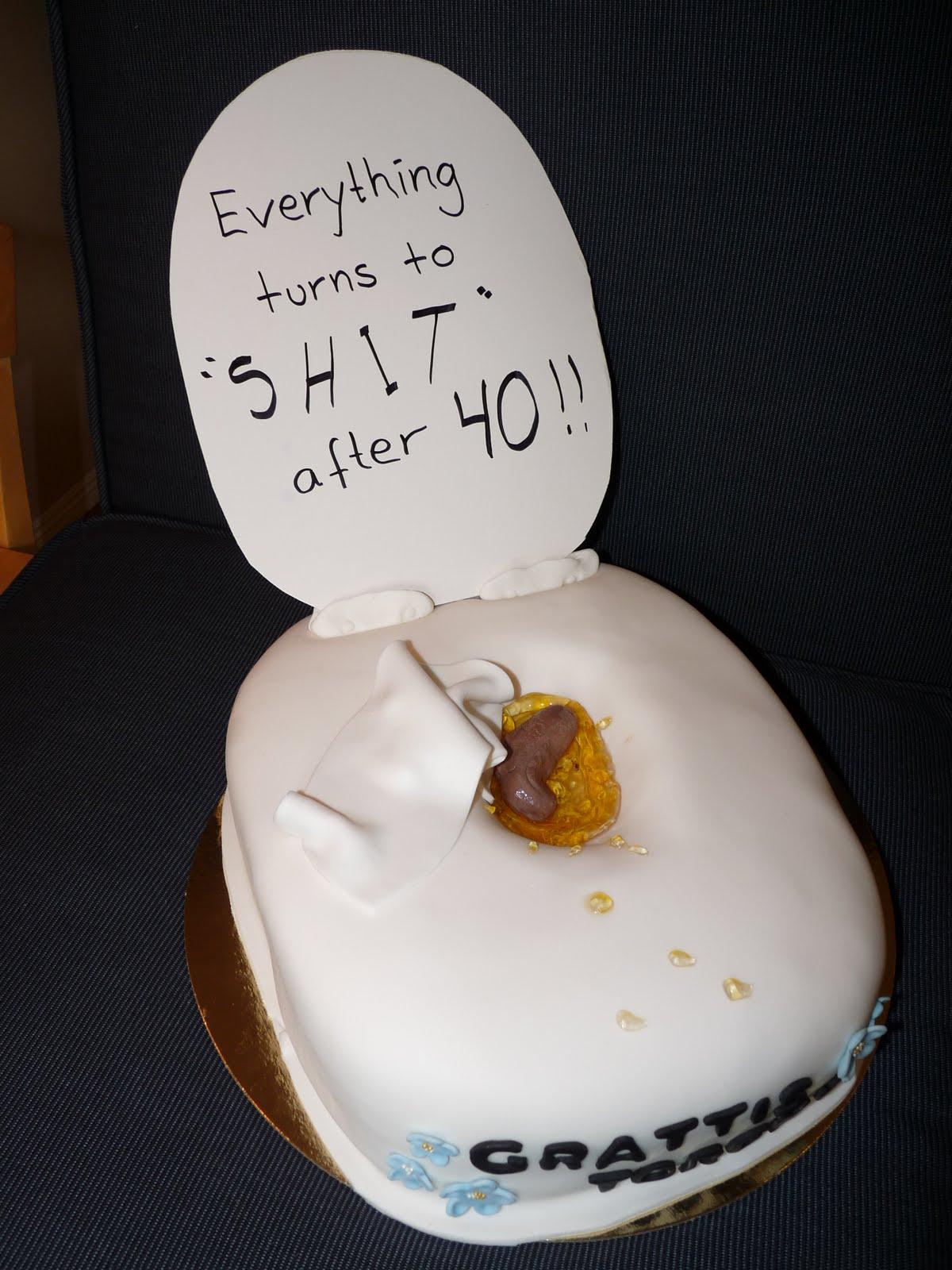 tårta 40 år Carinas baktanke: Toalettårta Brossans 40 års tårta tårta 40 år