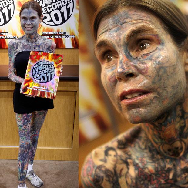 Tattoo Woman Photo: FivemicsShinobiWall: Julia Gnuse,Is The Most Tattooed