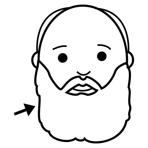 Dibujos De Barbas Para Colorear Recortables Para Ao Nuevo