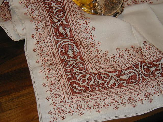ассизи, вышивка ассизи, итальянская вышивка, старинная итальянская вышивка