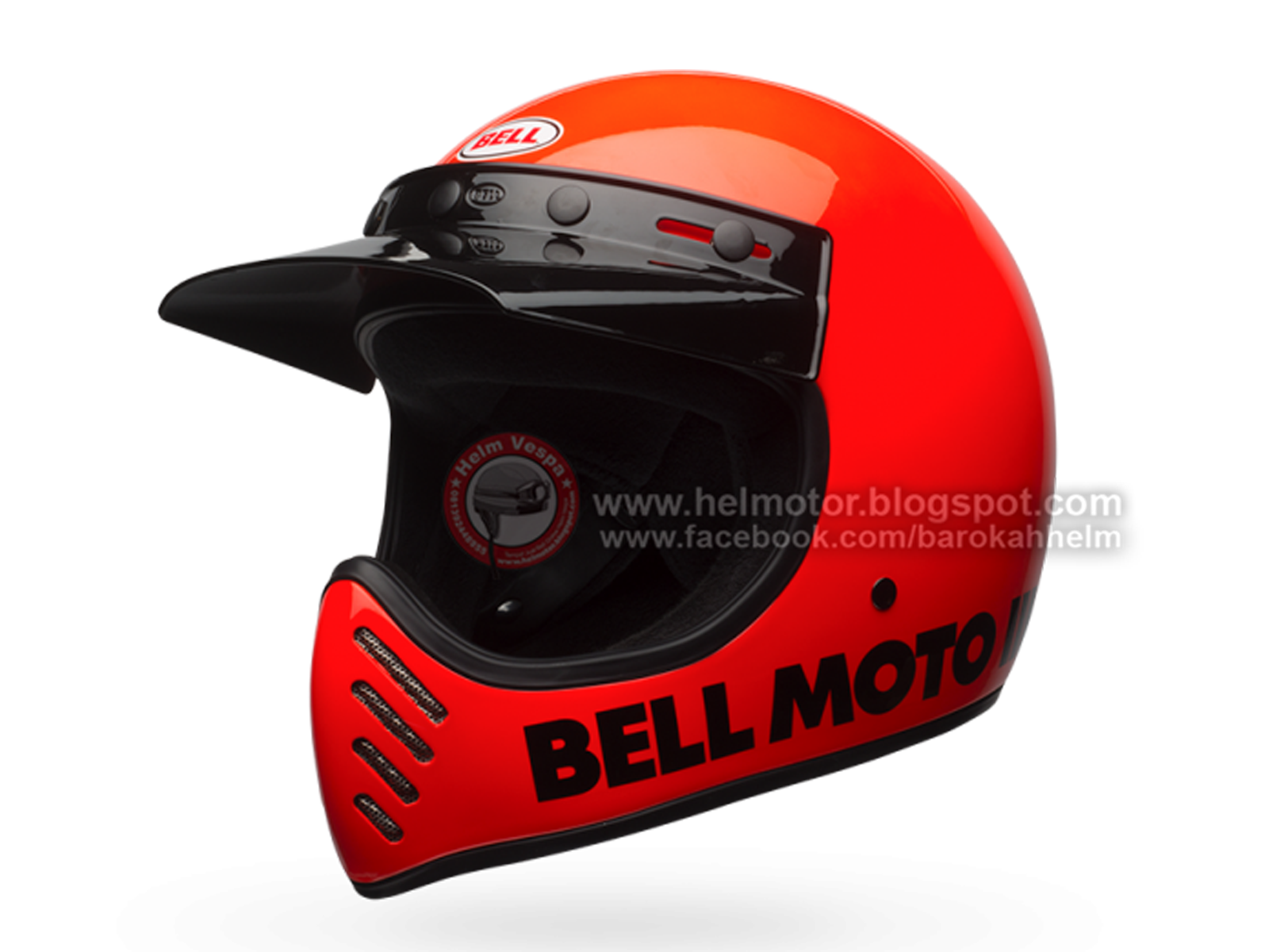 Helmet Bell Moto 3 Classic Flo Orange  Helm Vespa