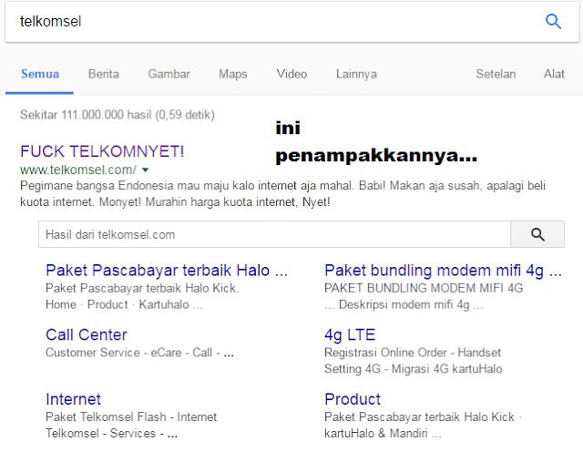 gambar telkomsel di hack