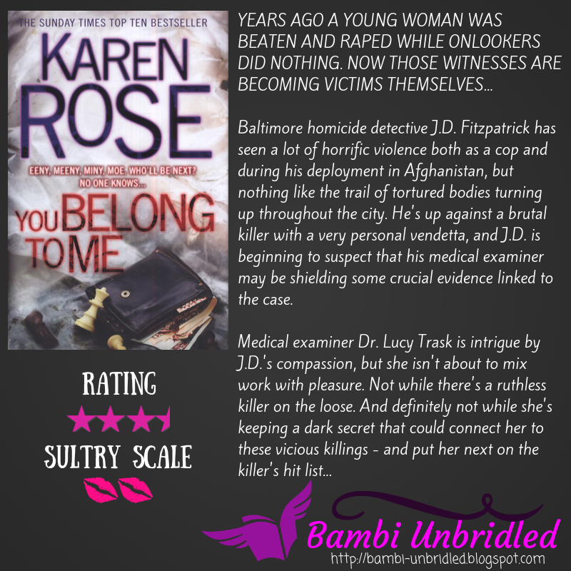 Bambi Unbridled Review You Belong To Me By Karen Rose