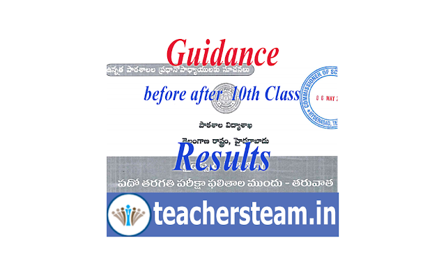 Guidance to 10th class students and Parents before and after the release of 10th class results