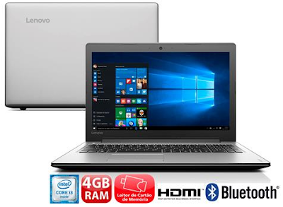 Notebook Lenovo Ideapad 310 com Intel Core i3-6006U