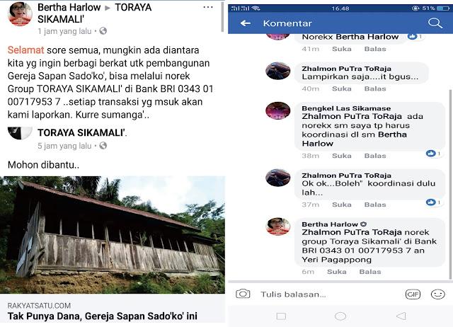 Prihatin Akan Keadaan Gereja Sapan Sado'ko', Organisasi Toraya Sikamali Galang Donasi