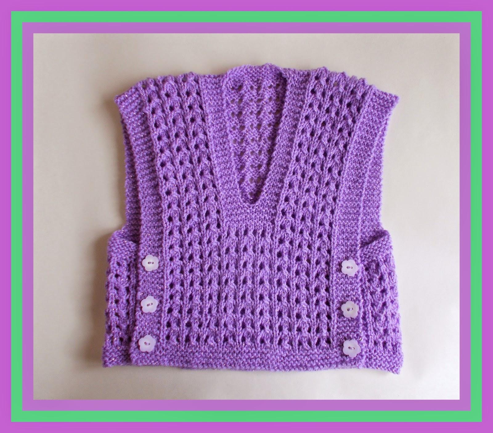 Marianna's Lazy Daisy Days: Melika Lacy Baby Vest Top with ...