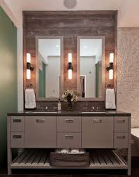bathroom vanity with sconce lighting