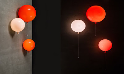 Lamparas en forma de globos. John Moncrieff's
