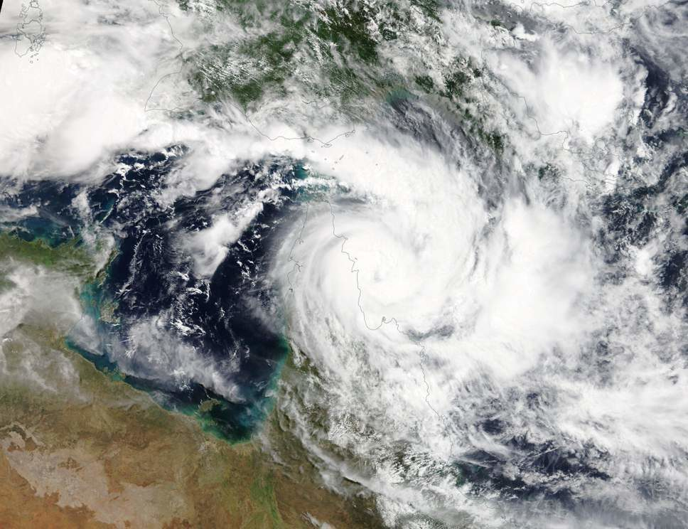 Cyclone Trevor: Largest ever evacuation under way in Australia's Northern Territory as a state of emergency declared  Cyclonetrevor1903