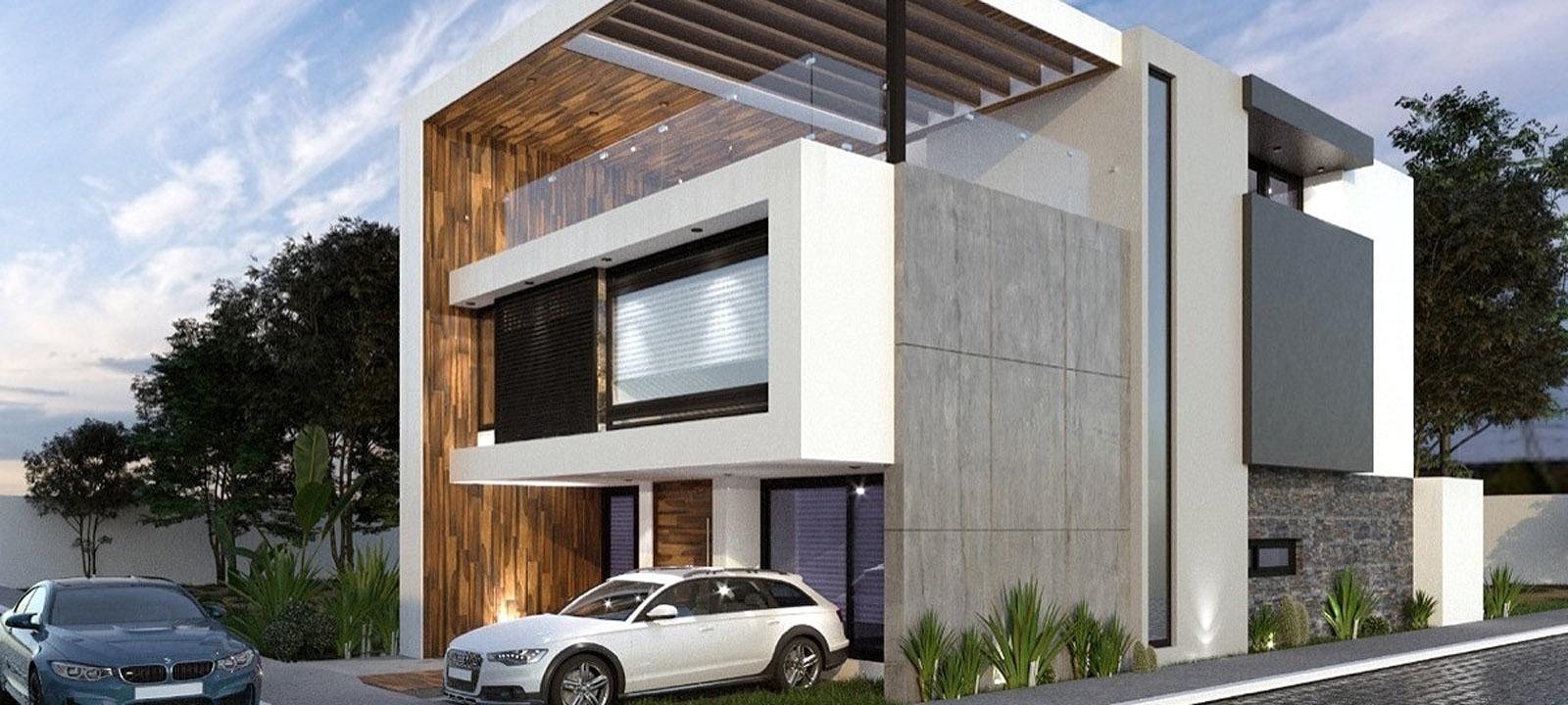 Casas Modernas Esquineras Linea Elixio Modelos De Fachadas Planos De Casas 3d Zen Ambient
