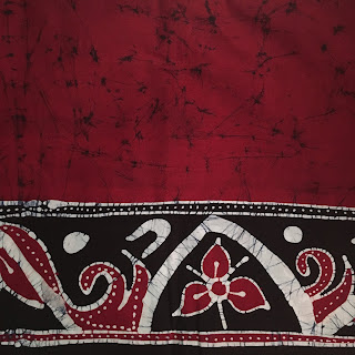 Batikstoff aus Batikmanufaktur in Kandy/Sri Lanka
