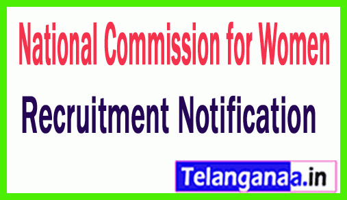 National Commission for Women NCW Recruitment Notification