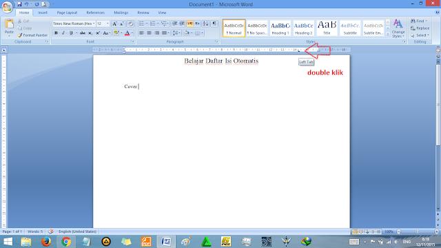 Tutorial membuat daftar isi di microsoft word