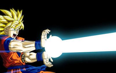 Dragon Ball Z - Goku Kamehameha - Fond d'écran en Full HD 1080p