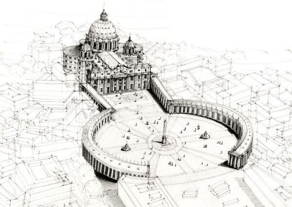 04-Vatican-City-Rome-Italy-Adelina-Popescu-Architecture-Drawings-and-Interior-Design-www-designstack-co