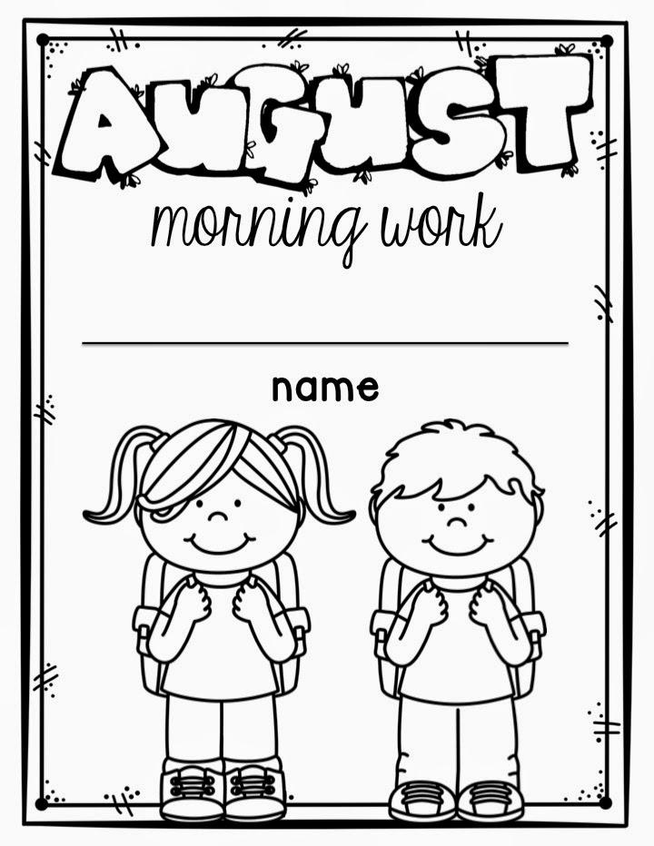 Slide03 - Morning Work For Kindergarten