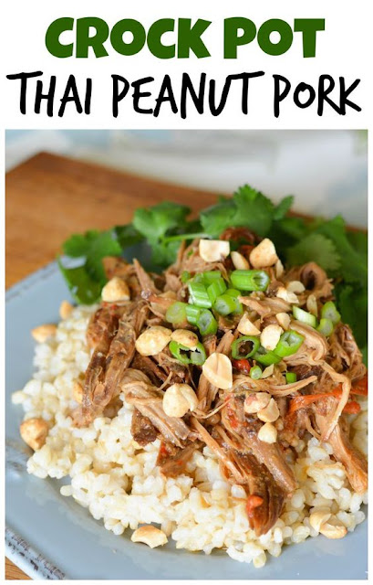 CROCK POT THAI PORK WITH PEANUT SAUCE