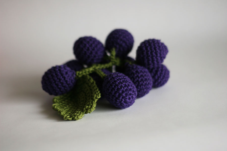 Handmade crochet fruits and vegetables, play food/home decor