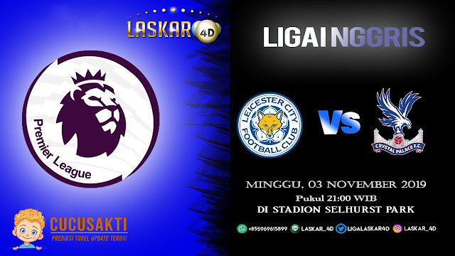 Prediksi Pertandingan Bola Crystal Palace vs Leicester City 03 November 2019