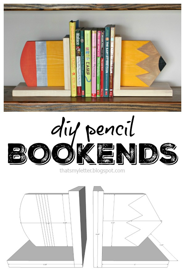 diy wood pencil bookends free plans