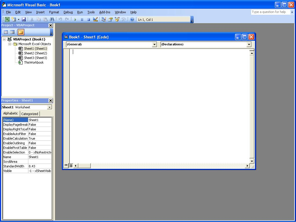 Tutorial And Article 7 Visual Basic Editor Vbe In