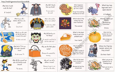 Image: Thanksgiving Lunch Box Jokes {Printable}