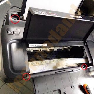 Cara Membongkar Catridge Printer Epson L110, L300, L310 tanpa membuka casing